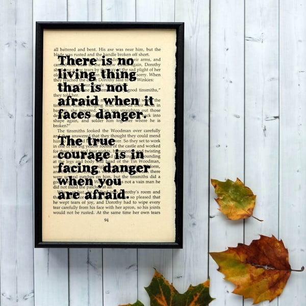 Plakat w   drewnianej ramie Wizard of Oz Danger