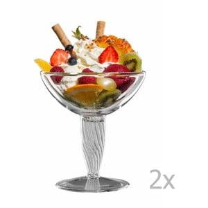 Zestaw 2   szklanych pucharków bloomix Luca