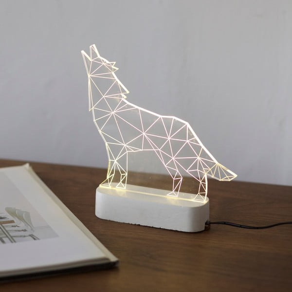 Lampka Wolf, biała podstawa