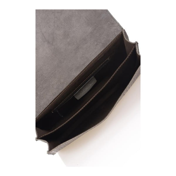 Szara torebka skórzana Lisa Minardi Cosma
