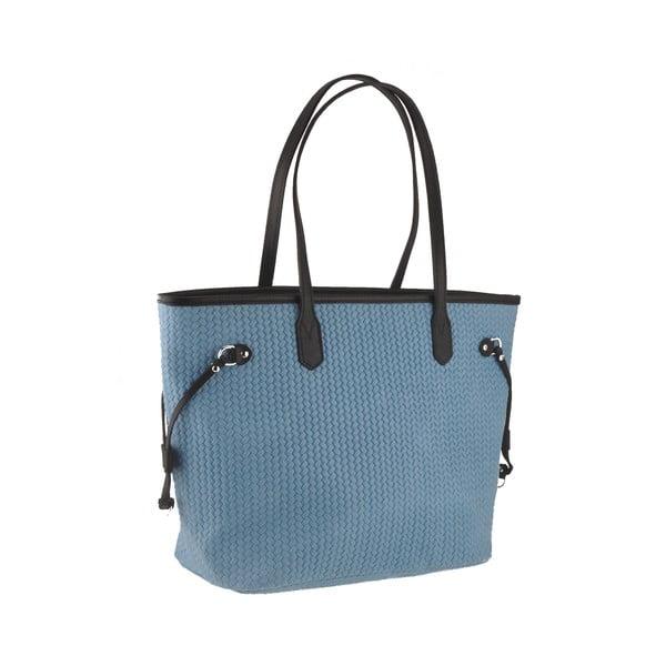 Skórzana torebka Merga, niebieska