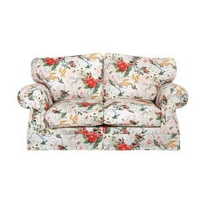 Czerwono-biała sofa dwuosobowa w kwiaty Max Winzer Mina