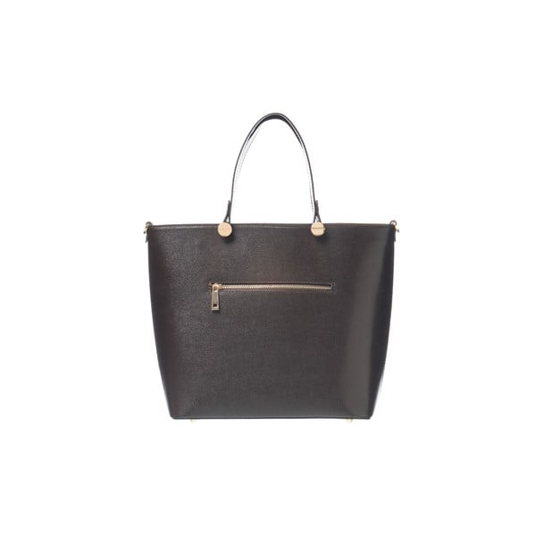 Skórzana torebka Miss Dark Brown