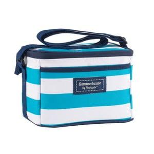 Světle modrá pruhovaná chladicí taška Navigate, 4l