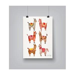 Plakat Americanflat Alpacas, 30x42 cm