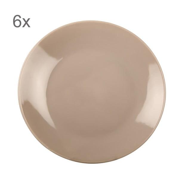Komplet 6 talerzy Kaleidoskop 27 cm, szarobrązowy