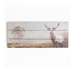 Obraz z drewna Graham & Brown Stag, 70x30 cm