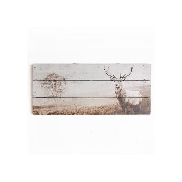 Drewniany obraz Graham & Brown Stag,70x30cm