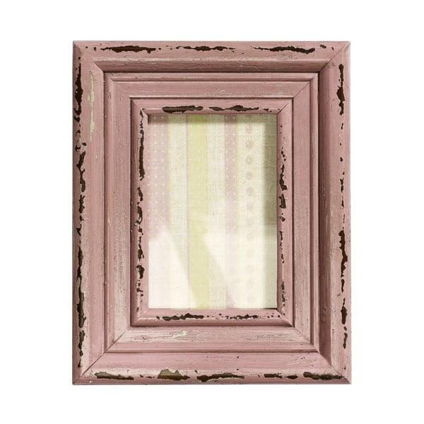 Drewniana ramka Memory, różowa