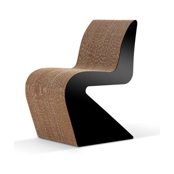 Kartonowe krzesło Amanda Black