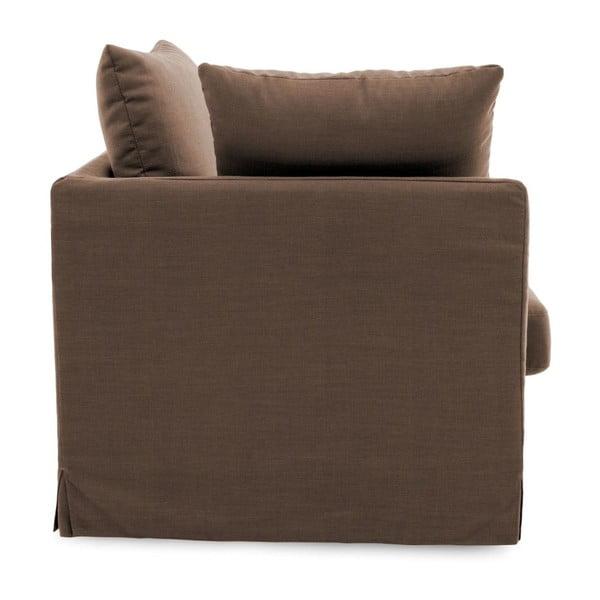 Brązowa sofa trzyosobowa Vivonita Coraly Brown