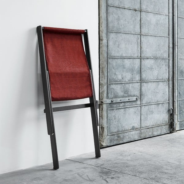 Fotel składany Karup Boogie Black/Passion Red