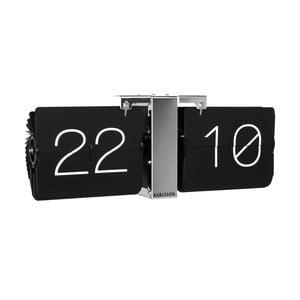 Czarny zegar ścienny Present Time No Case
