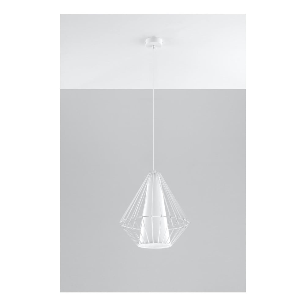 Biała lampa wisząca Nice Lamps Alfredo