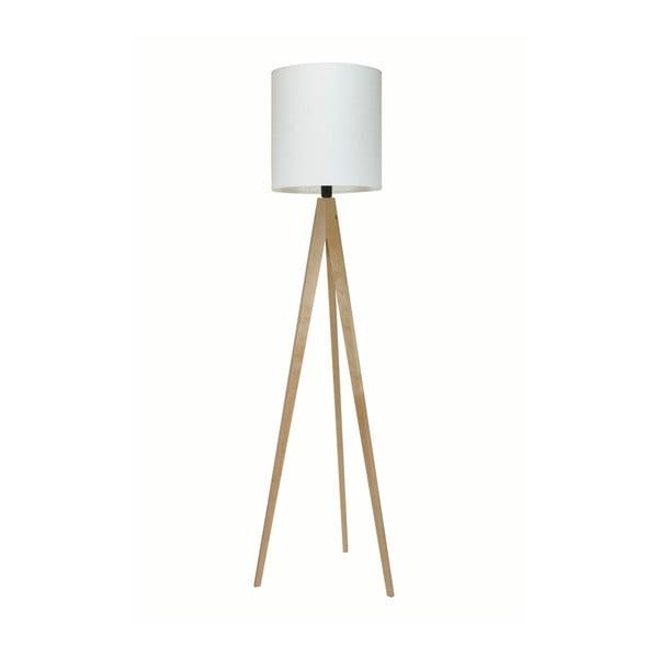 Biała lampa stojąca Artist, brzoza, 158 cm