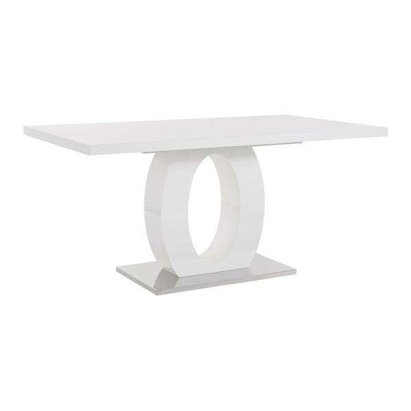 Biały stół z wysokim połyskiem Støraa Milo