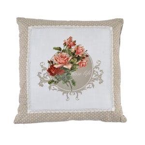 Poduszka Beige Roses, 45x45 cm