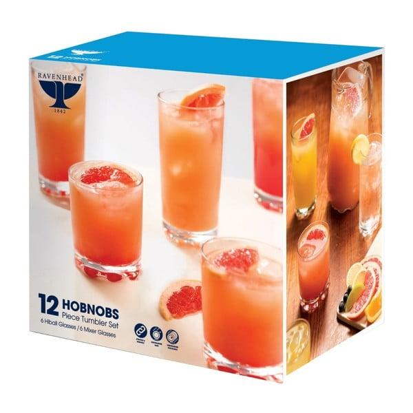 Zestaw   12 szklanek Essential Hobnobs