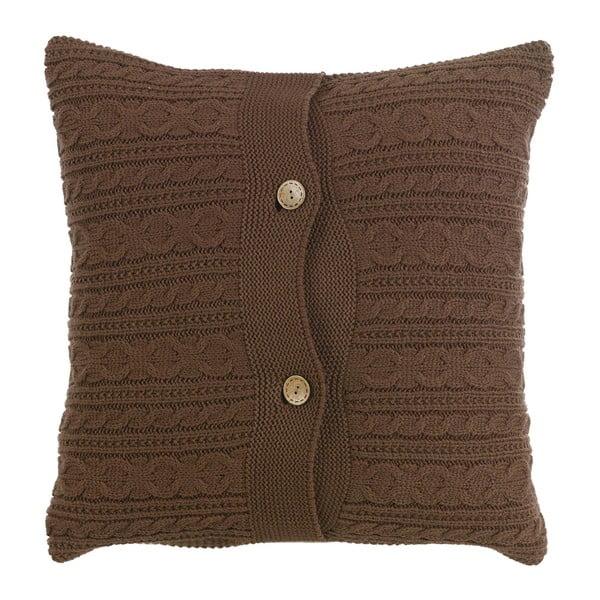 Dziergana poduszka z wypełnieniem Chocolate