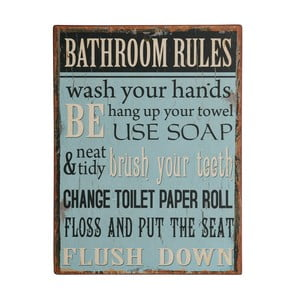 Tablica Bathroom rules