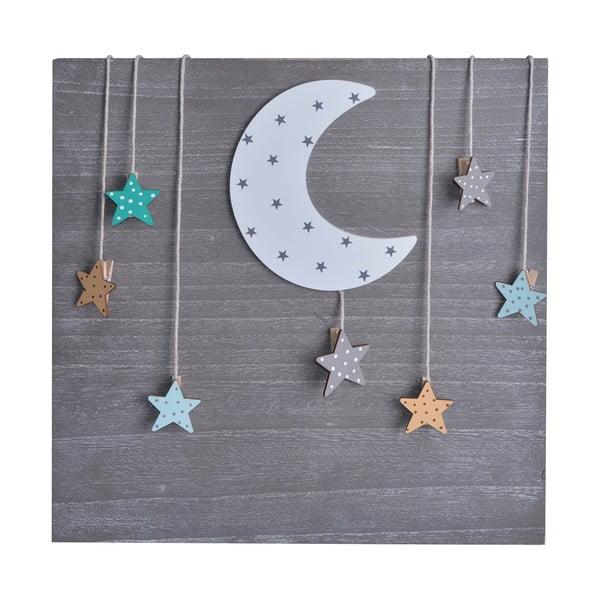 Naścienna dekoracja z klamerkami na zdjęcia Moon