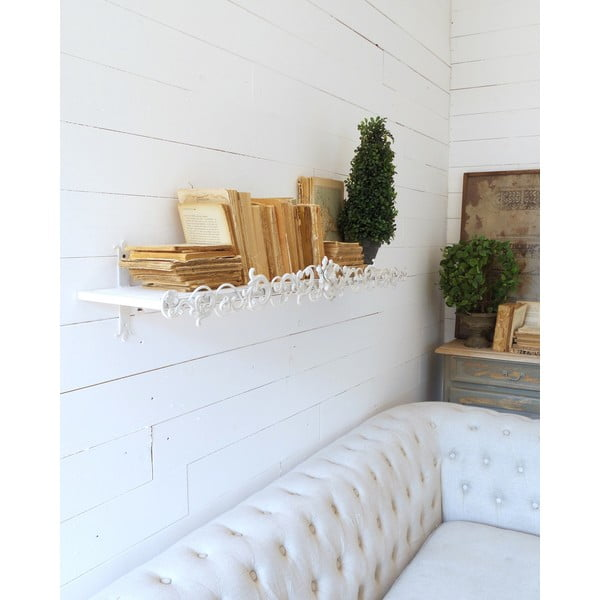 Półka naścienna Wall Antique White, 113 cm