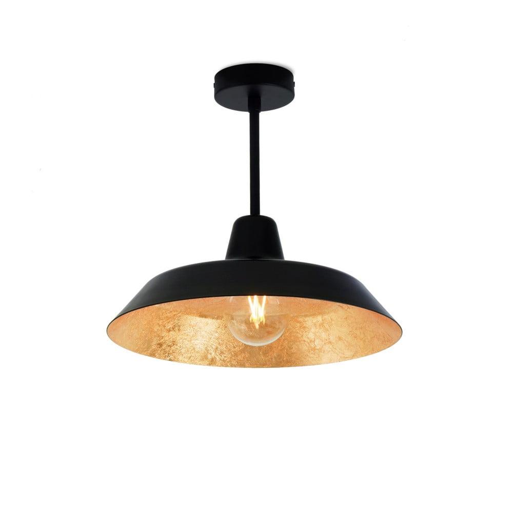 Czarna lampa wisząca z wnętrzem w kolorze złota Bulb Attack Cinco Basic