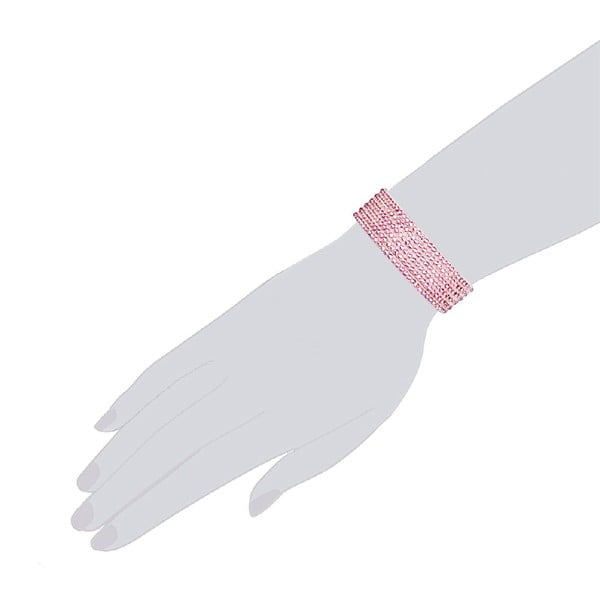 Bransoletka Simply Babypink, 19 cm