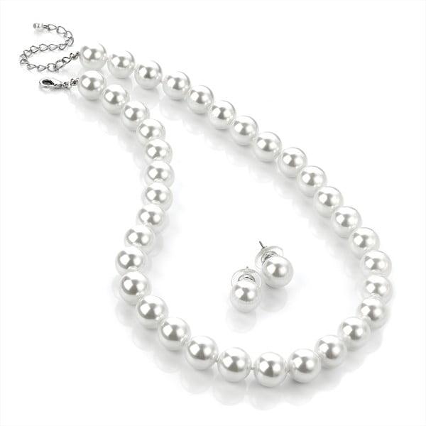 Naszyjnik i kolczyki Pearl Silver