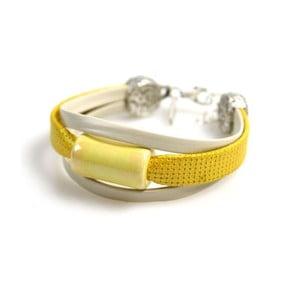 Bransoletka Stone, żółta