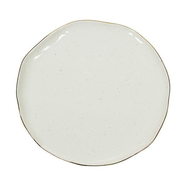Biały talerz porcelanowy Santiago Pons Bol, ⌀26cm