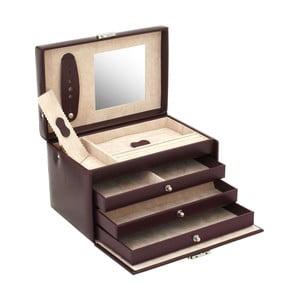 Bordowa szkatułka na biżuterię Friedrich Lederwaren Classico