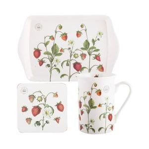 Komplet filiżanki ze spodkiem i tacą Creative Tops Strawberry Fayre