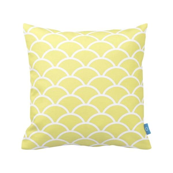 Żółto-biała poduszka Deco Ornament no. 23, 43x43cm