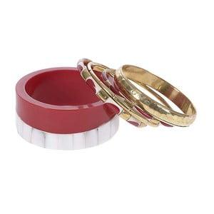 Zestaw 5 bransoletek Red Gold