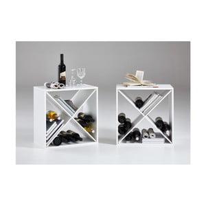 Zestaw 2 białych stojaków na wino Riki