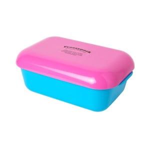 Pojemnik z wkładem chłodzącym Frozzypack Summer Edition, turquoise/cerise