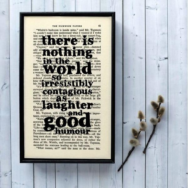Plakat w   drewnianej ramie Dickens Laughter