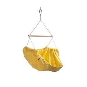 Żółty fotel wiszący z bawełny dla dorosłych Hojdavak Maxi