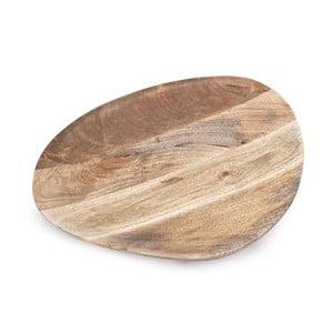 Taca drewniana ręcznie wykonana NORR11 Odile, 50x42 cm