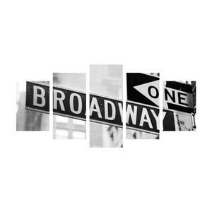 Wieloczęściowy obraz Black&White Broadway, 100x50 cm