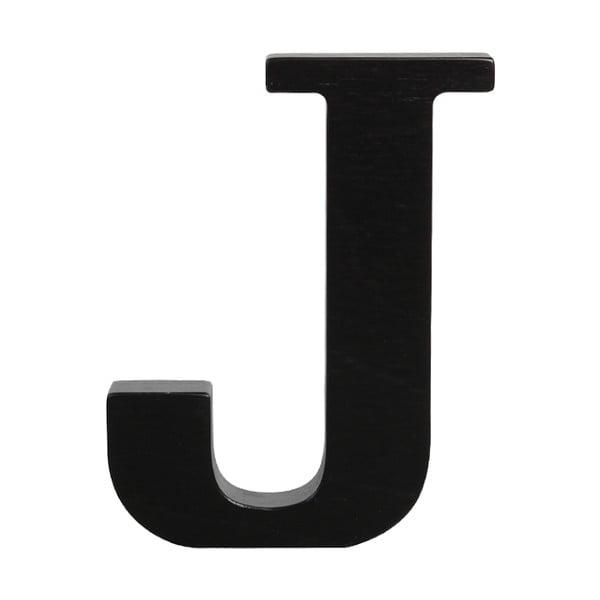 Czarna drewniana litera Typoland J