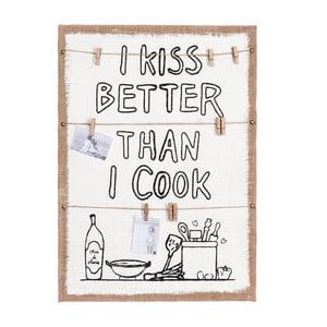 Tablica Memo Burlap, 40x56 cm