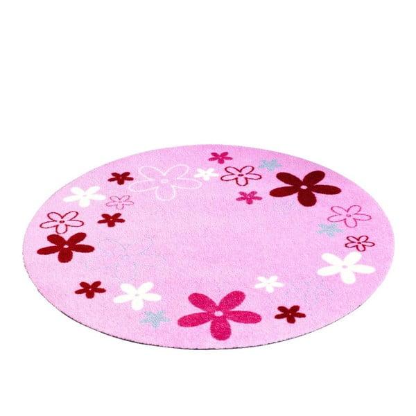 Dywan Deko - różowy w kwiaty, 100 cm