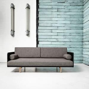 Sofa rozkładana Karup Deva Black/Raw Oak/Granite Grey