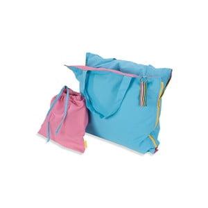 Przenośny leżak + torba Hhooboz 150x62 cm, turkusowy