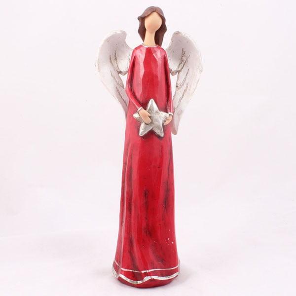 Ceramiczny anioł z gwiazdą Dakls