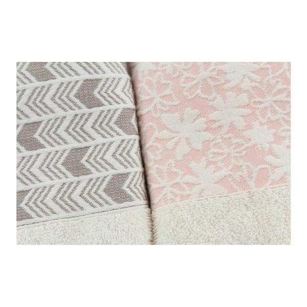 Rodzinny zestaw szlafroków i ręczników Family Light Pink