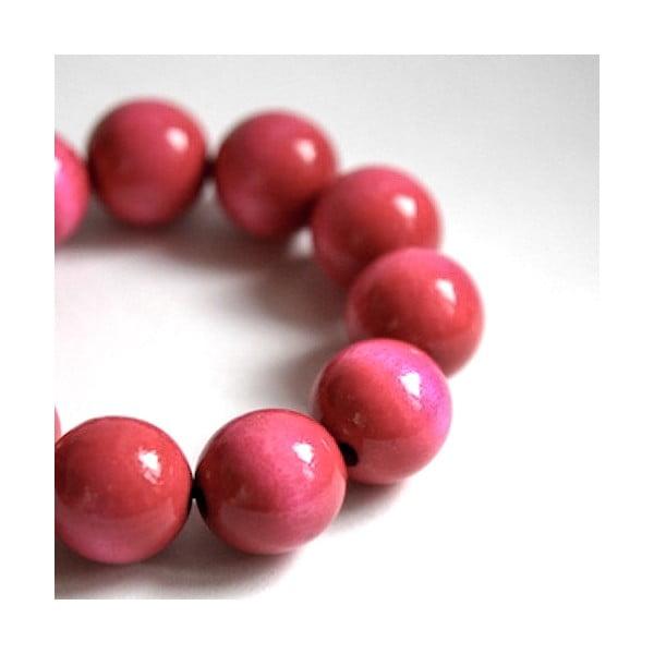 Różowa bransoletka drewniana Ko–ra–le Bubbles