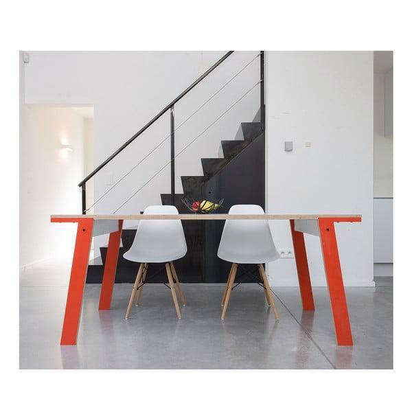 Pomarańczowy stół/biurko rform Flat, blat 200x90 cm